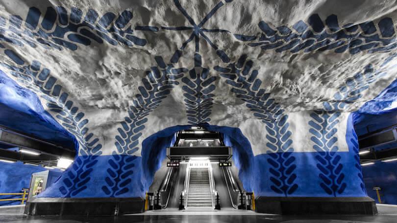 estações de metro mais bonitas