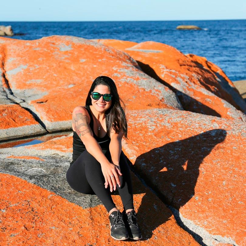 Tasmania Australia - Bay of Fires pedras